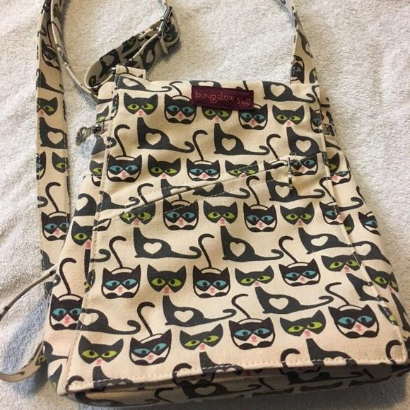 66427f34240e Bungalow 360 Small Messenger Bag Canvas Cat